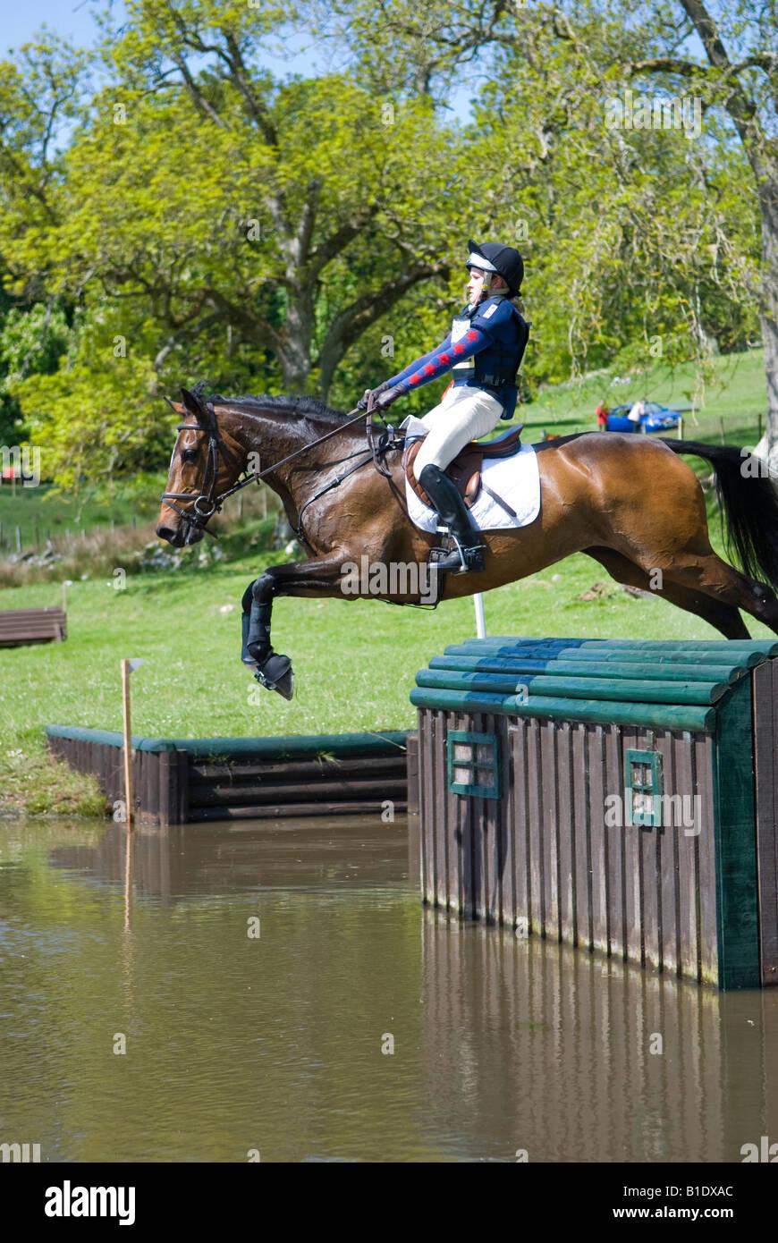 Competitor at Scotsburn Horse Trials, Scotland, Great Britain - Stock Image