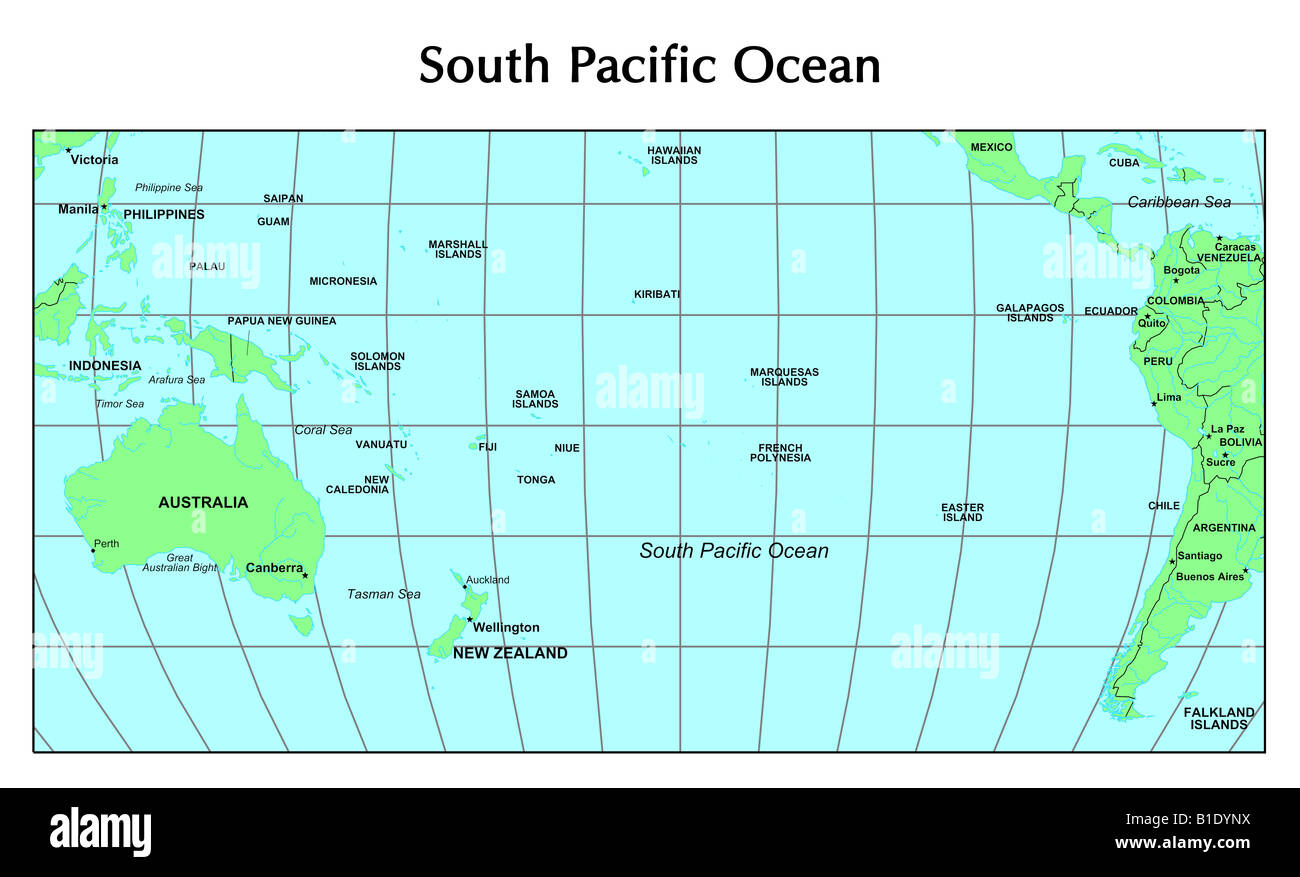 map of southern pacific ocean South Pacific Ocean Map High Resolution Stock Photography And map of southern pacific ocean