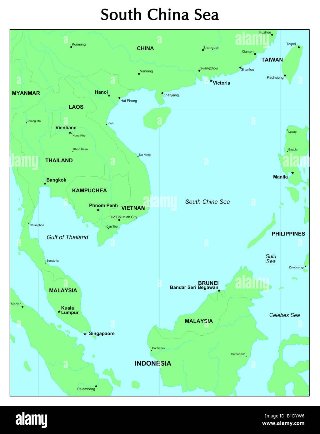 South China Sea - Stock Image