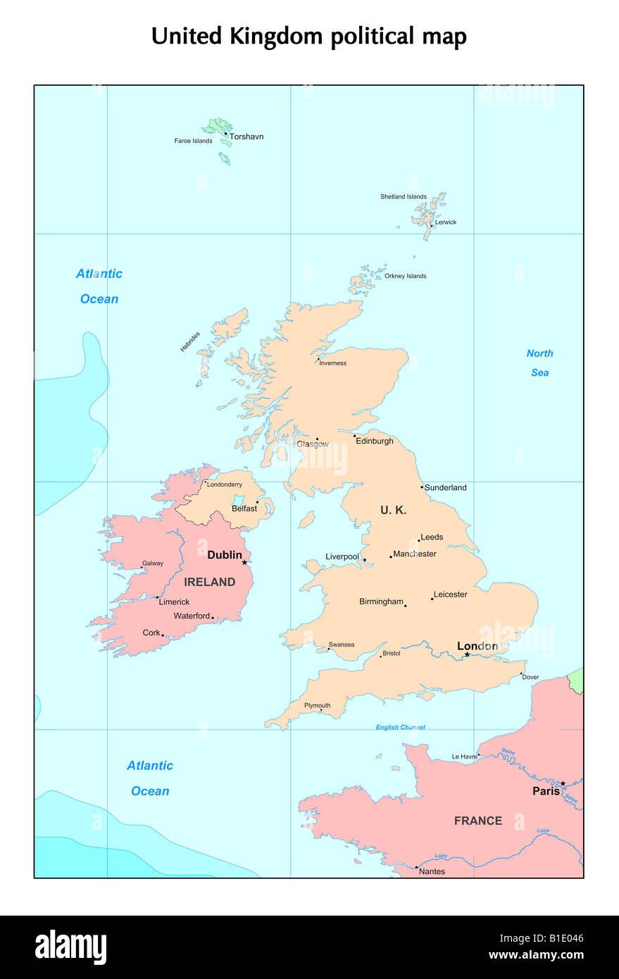 England Political Map Stock Photos England Political Map Stock