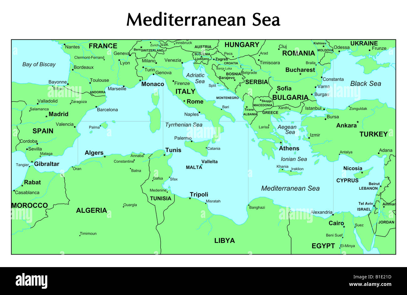 Black Sea Map High Resolution Stock Photography And Images Alamy