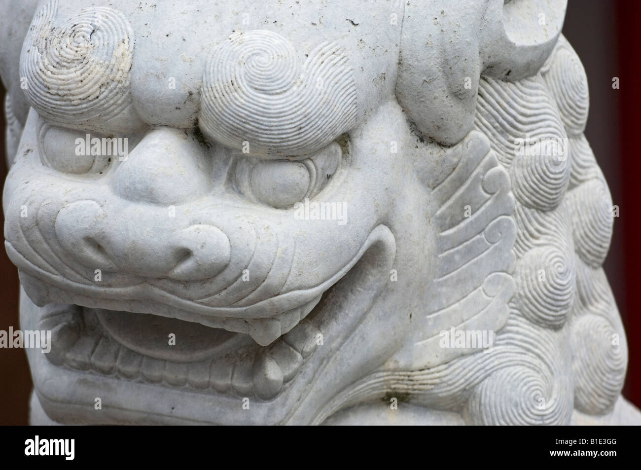 Close up of a Chinese Dragon Statue in the Confucius Shrine or