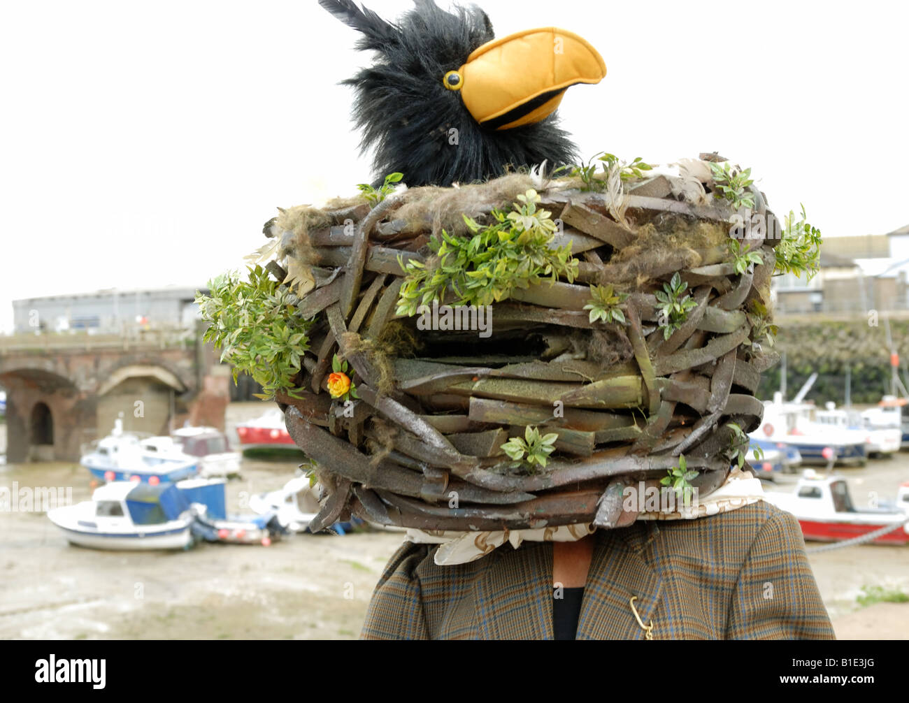 One of The Twitchers at the Folkestone Triennial arts festival - Stock Image