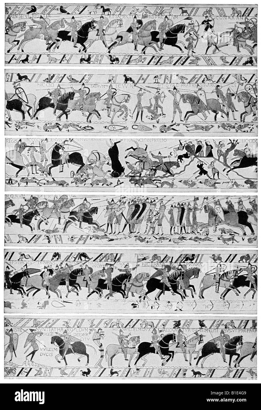 Bayeux tapestry - Stock Image