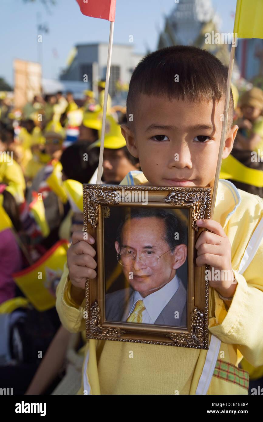 King's Birthday - Bangkok, THAILAND - Stock Image