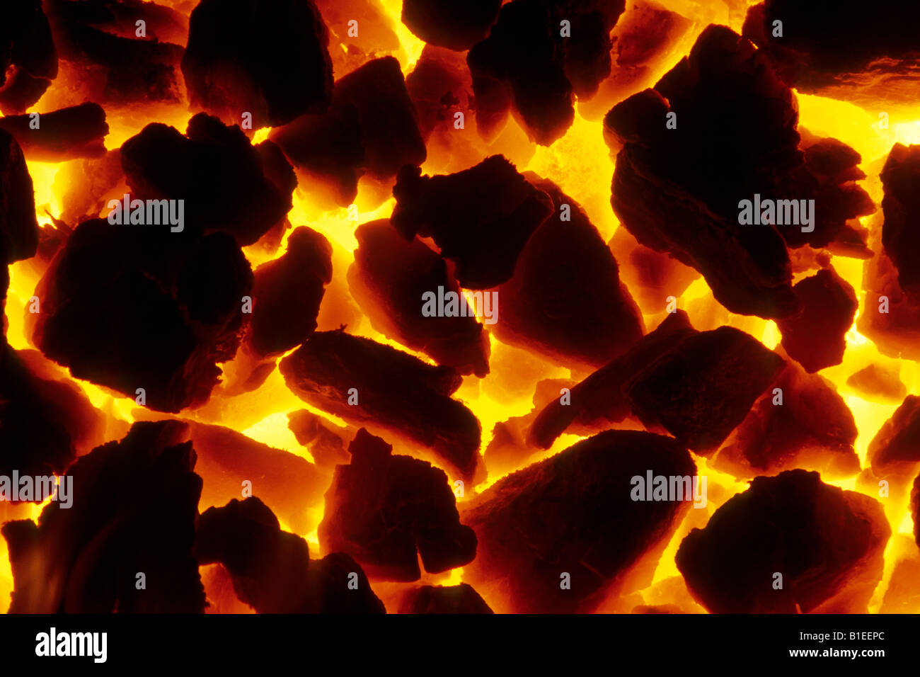Burning Coal In A Fireplace Stock Photo 18143956 Alamy