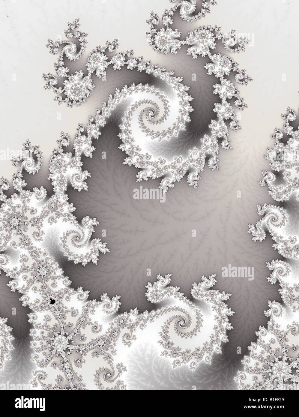 Two inter-locking fractal spirals Stock Photo