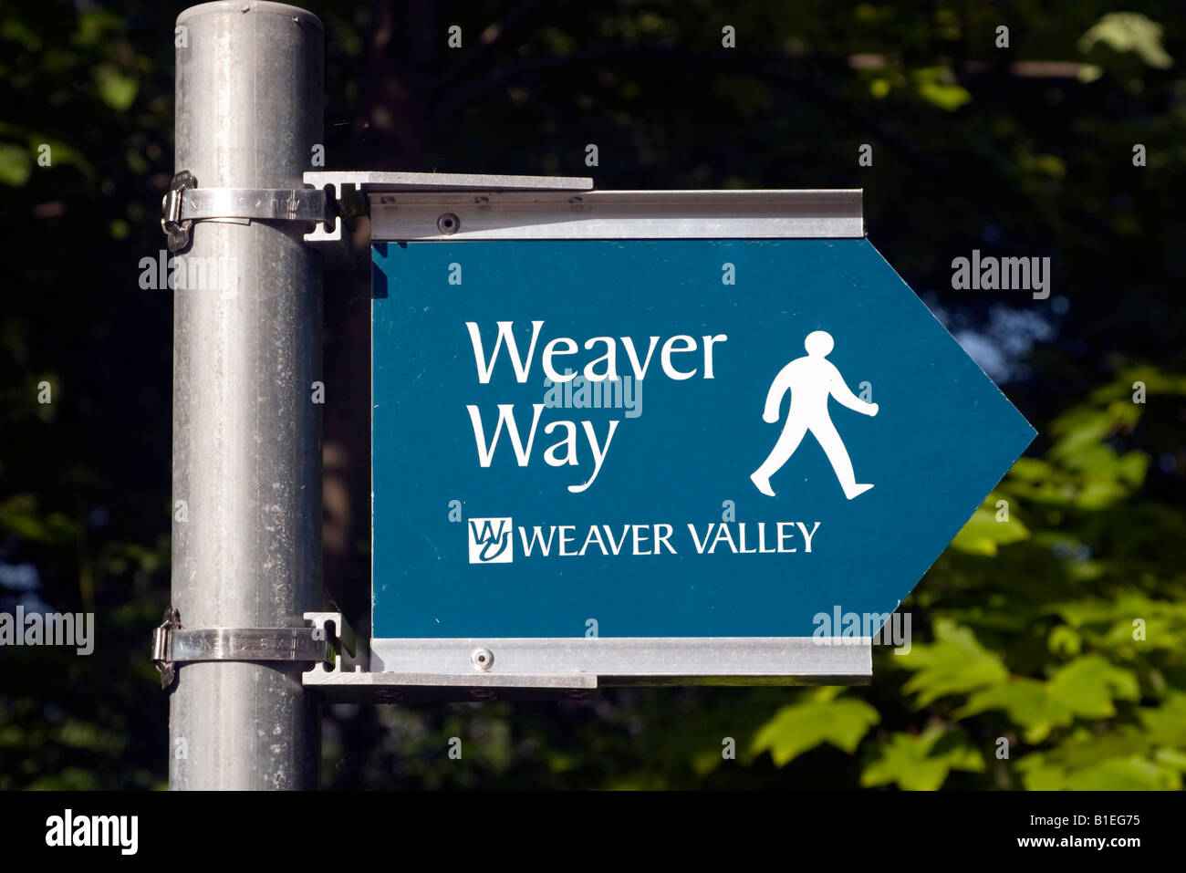 Weaver Way Sign, Cheshire. - Stock Image
