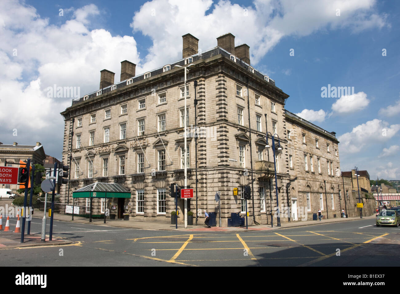 The George Hotel Situated next to Huddersfield Railway Station - Stock Image