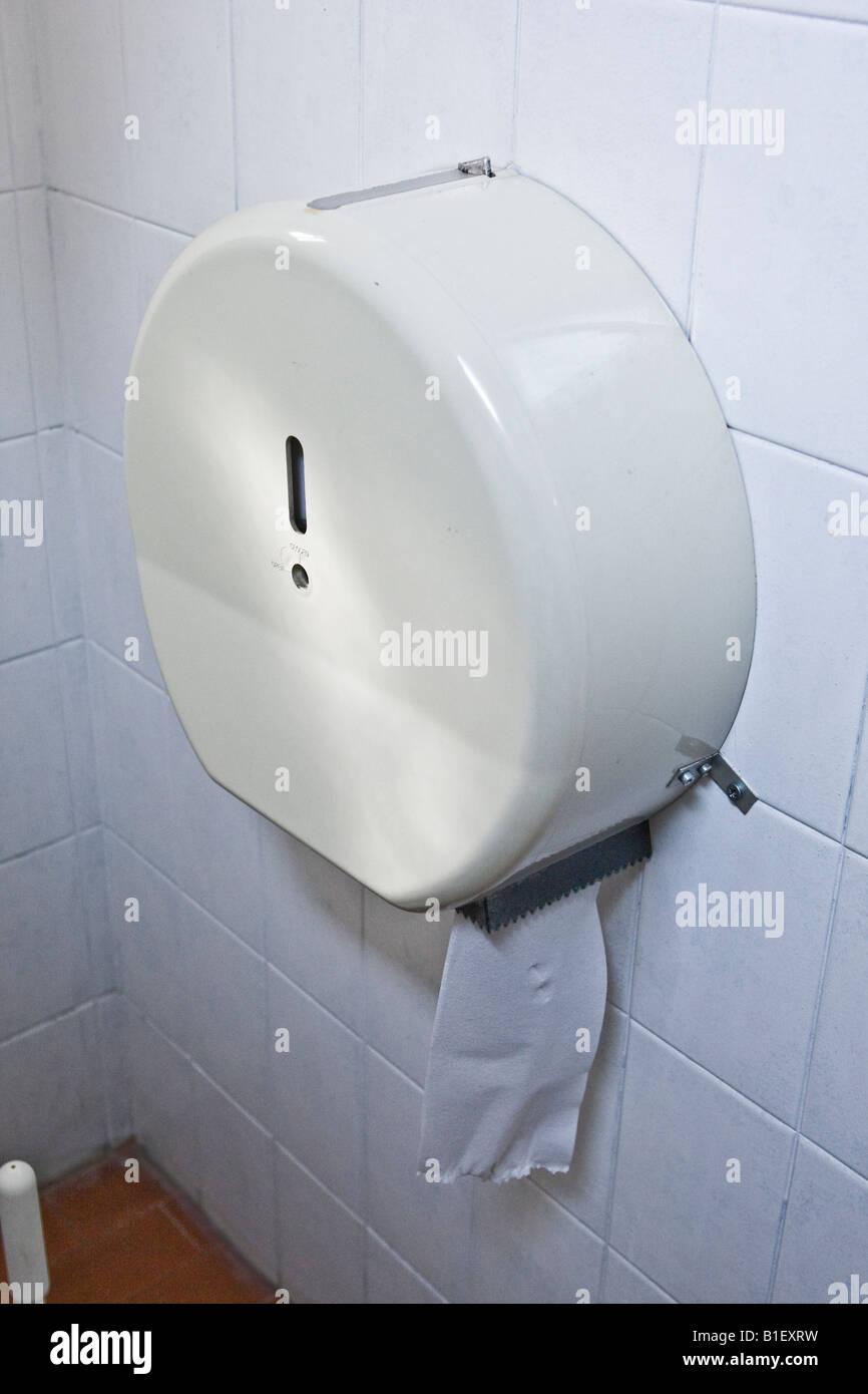 roll paper toilette wc bathroom distributor dispenser public tile ...