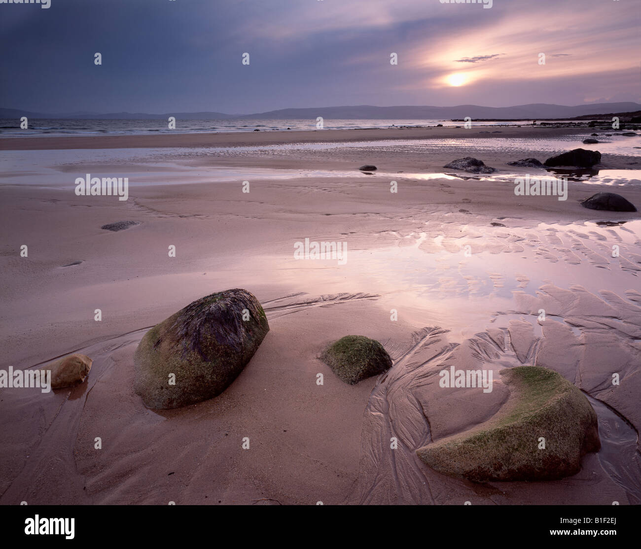 Evening light at Blackwaterfoot, Isle of Arran.  scotland. Stock Photo