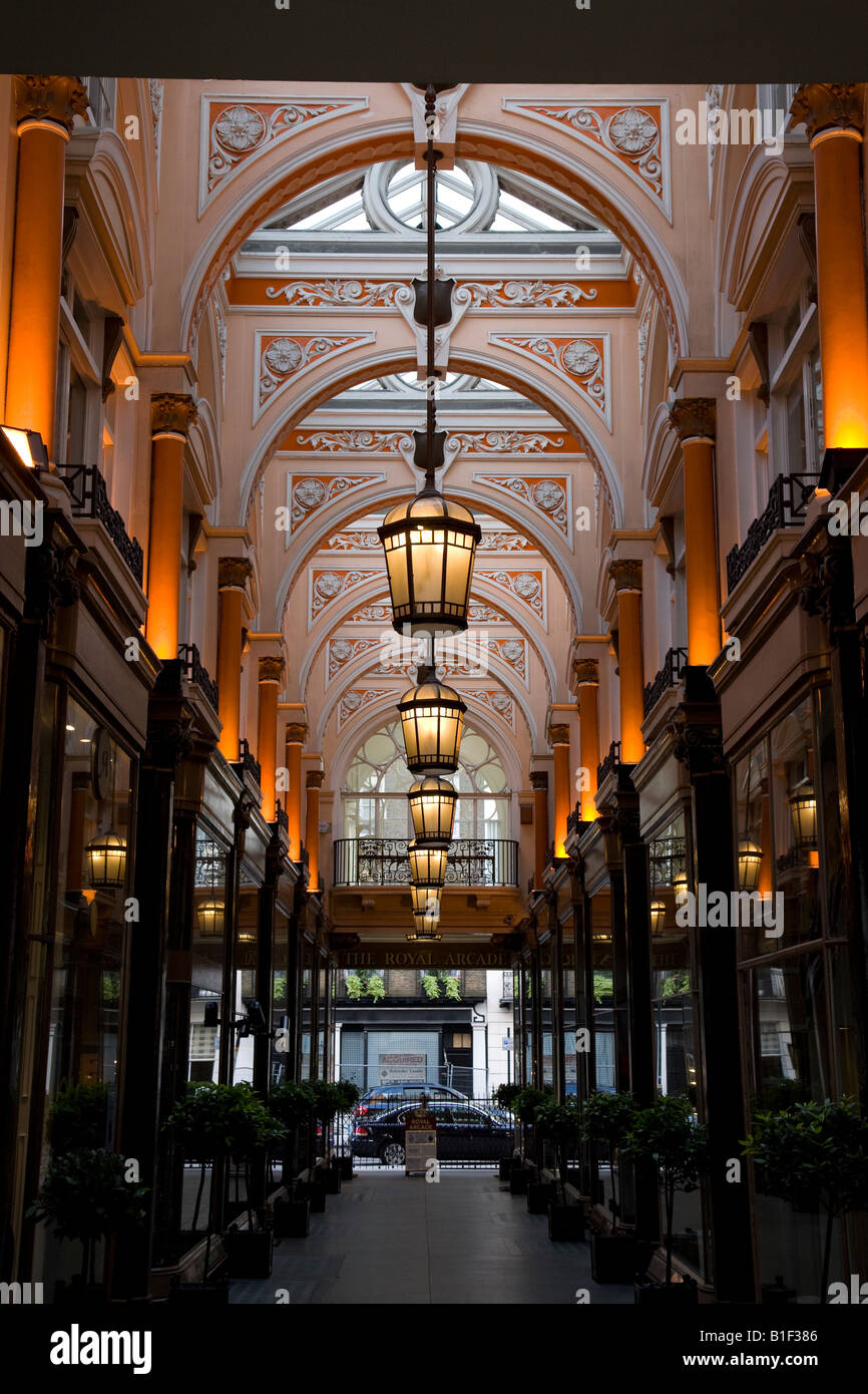The Royal Arcade London England UK, a victorian arcade off Old Bond Street Stock Photo