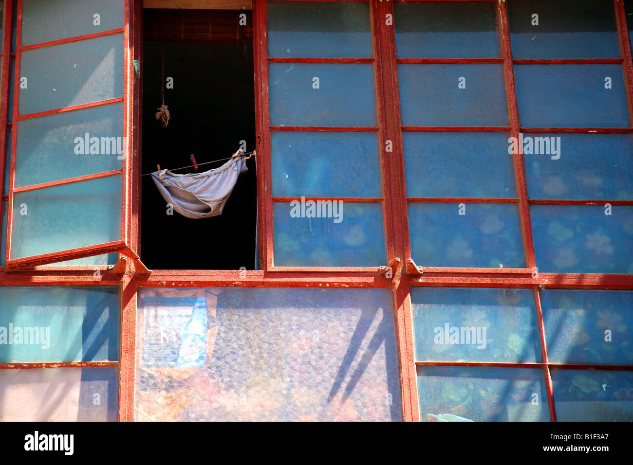 pant window - Stock Image