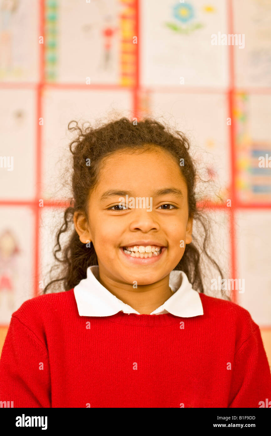 Portrait of African girl smiling - Stock Image