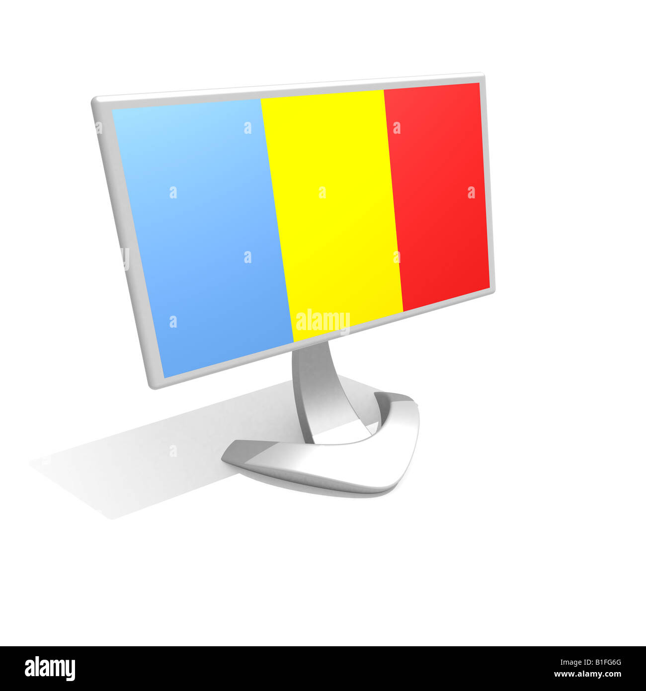 Flag of Tchad - Stock Image