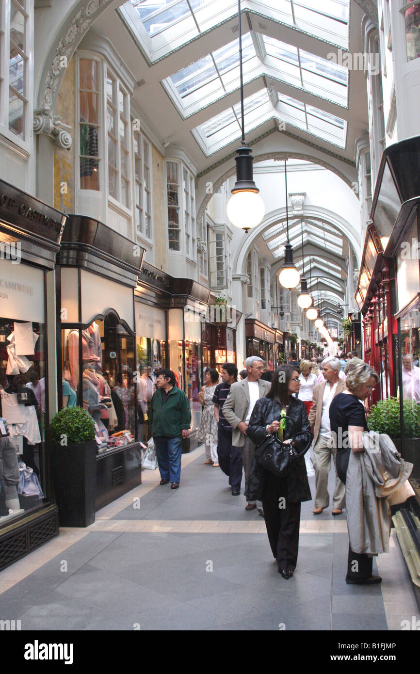 Burlington Arcade Piccadilly London May 2008 - Stock Image