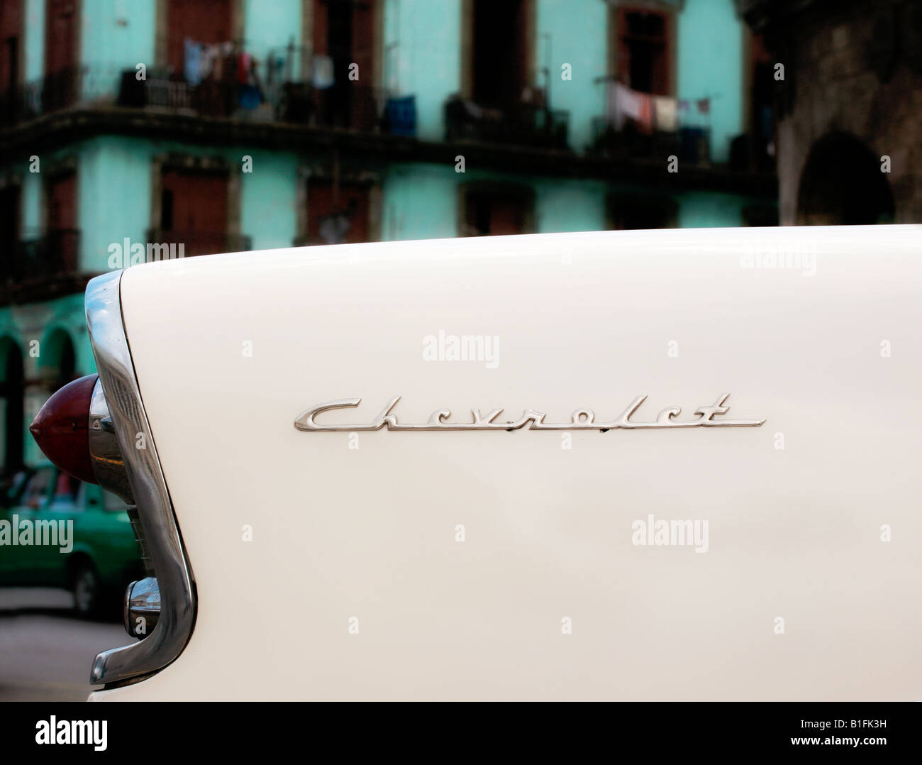 white car - Stock Image