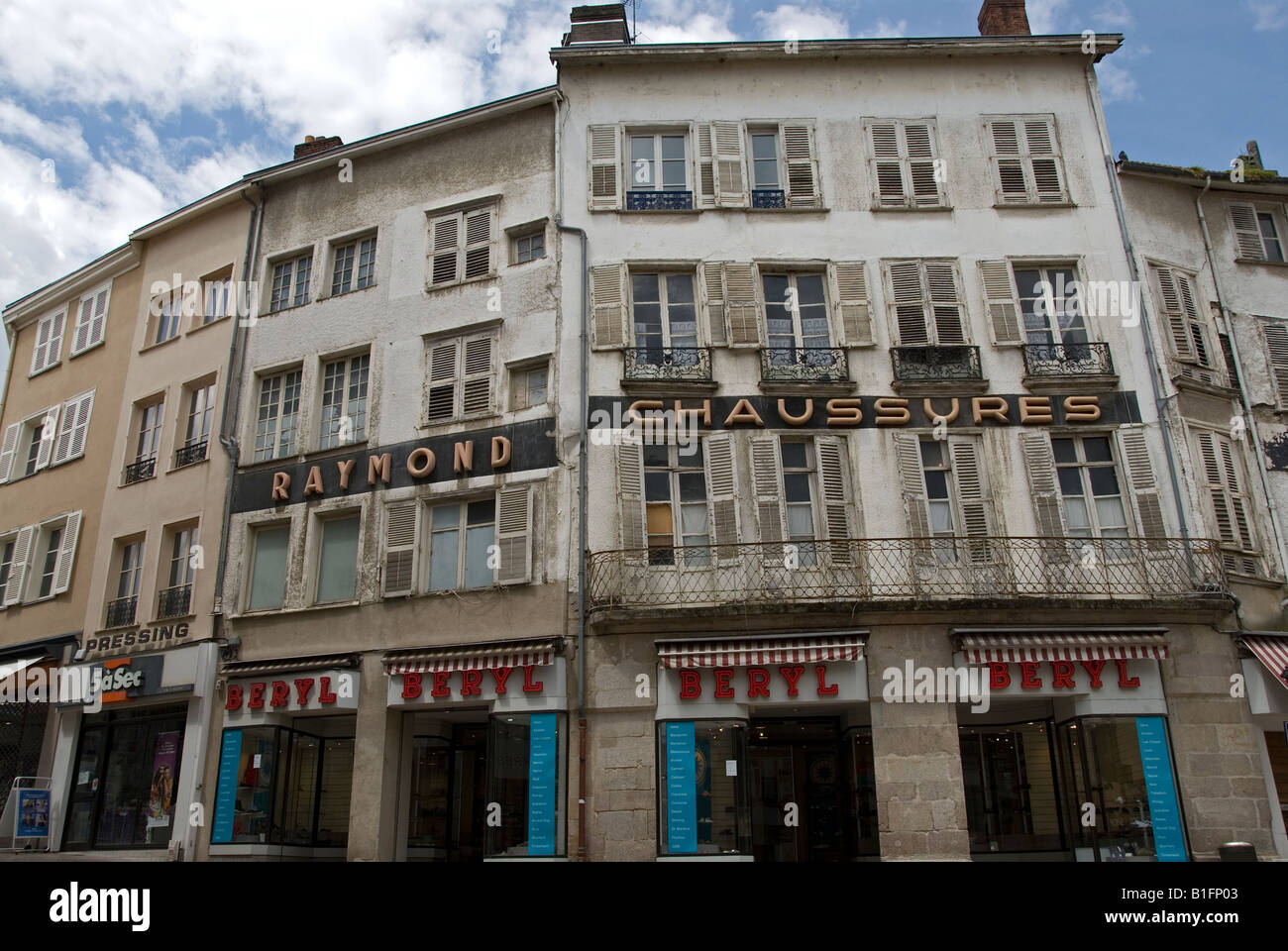 Stock photo of a shop in limoges France - Stock Image