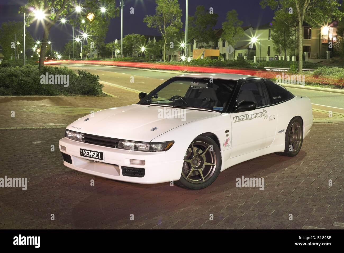 Awesome Modified Japanese Nissan S13 180SX Silvia Sports Car   Stock Image