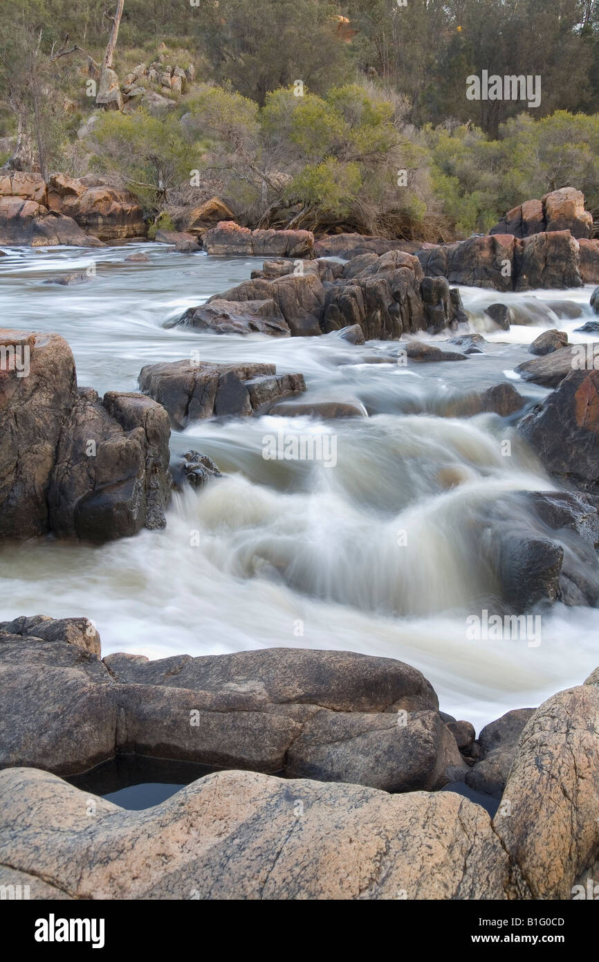 Bells Rapids on the Avon River in the hills of the Darling Range outside Perth, capital city of Western Australia - Stock Image