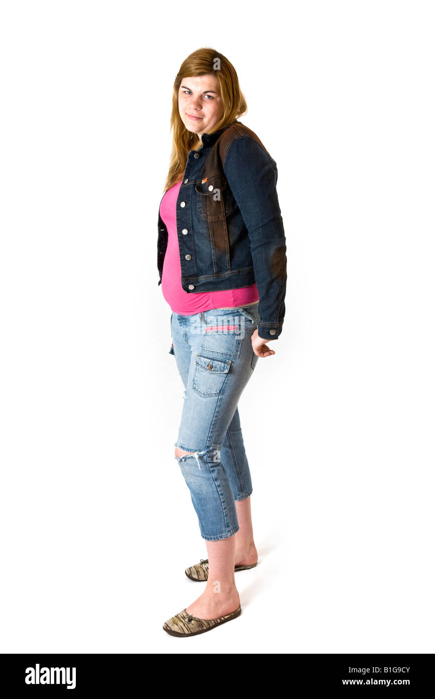 Portrait of young woman late teens or early twenties. - Stock Image