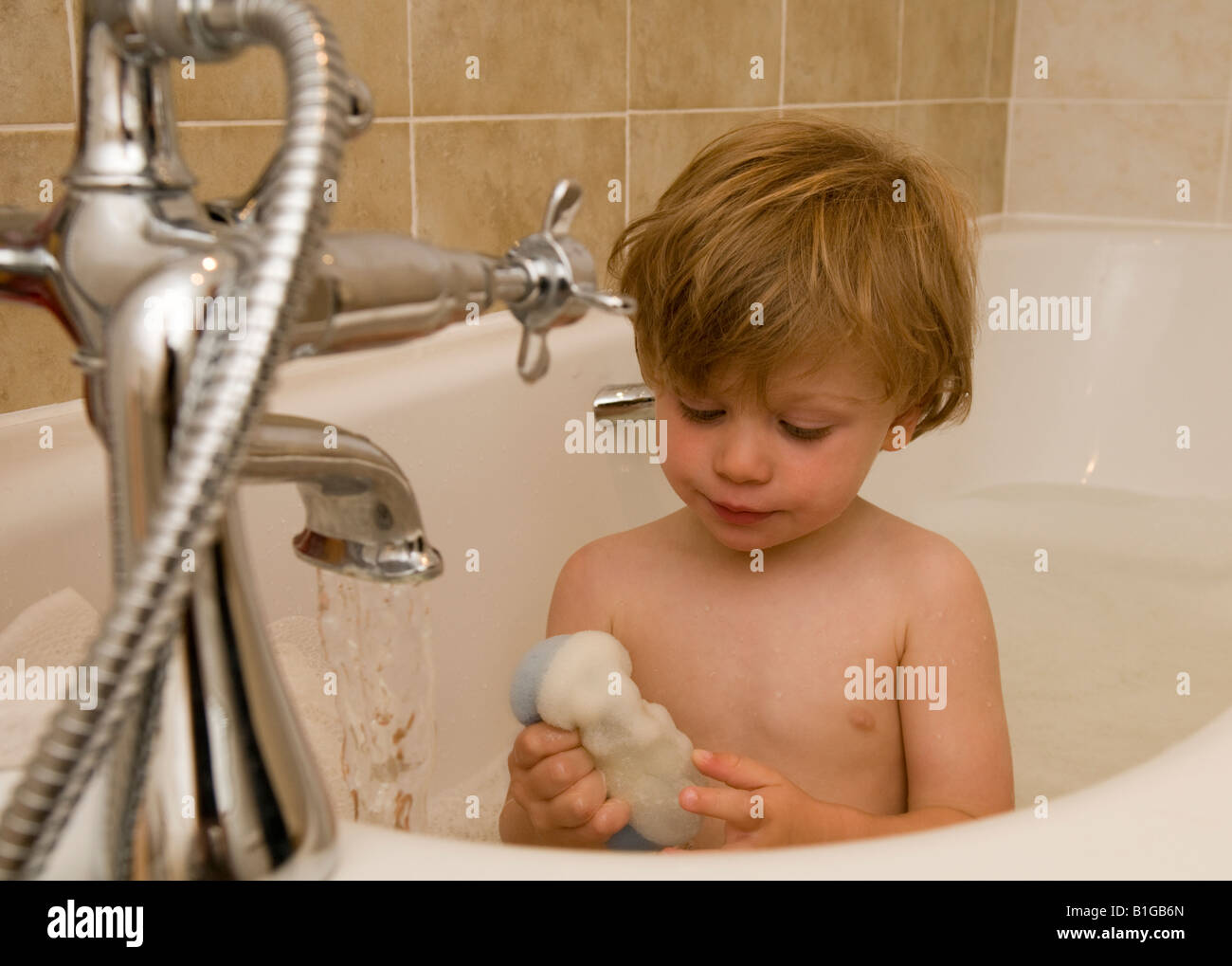 Bath Sponge For Child Stock Photos & Bath Sponge For Child Stock ...