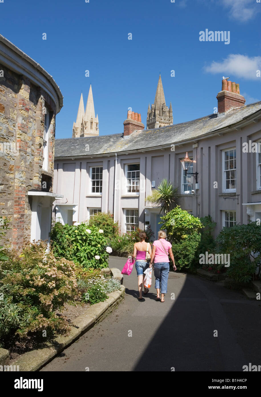Tourists in Truro, Cornwall, England U.K. - Stock Image