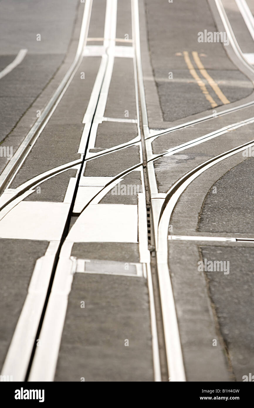 Cable car tracks - Stock Image