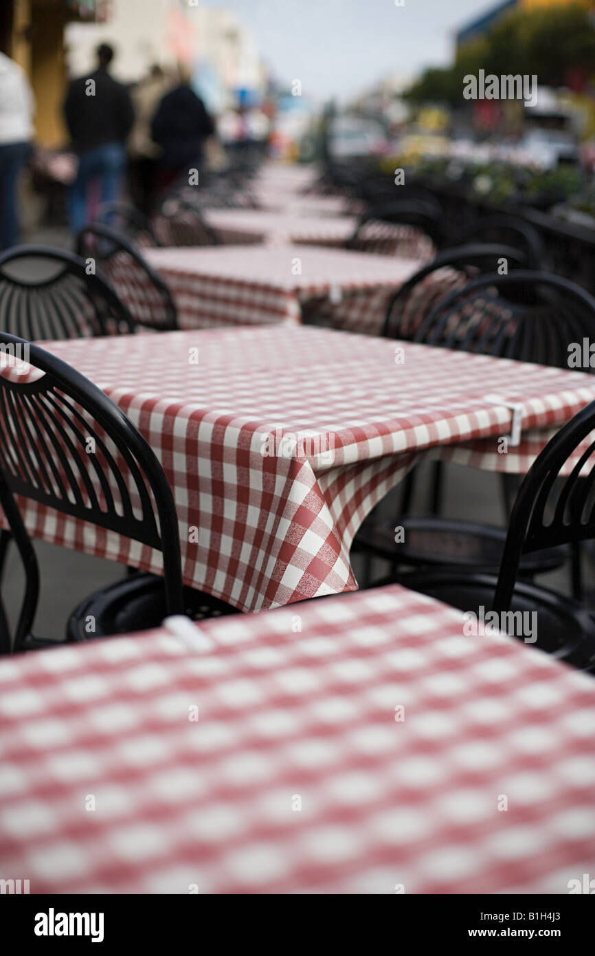 Empty cafe tables - Stock Image