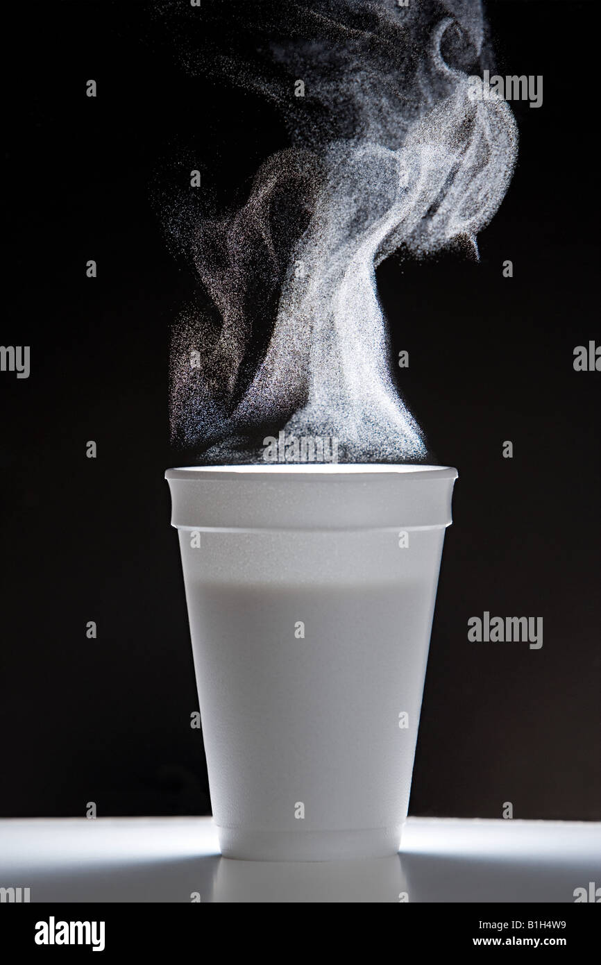 Hot drink with steam - Stock Image