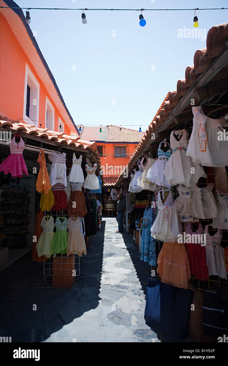 Clothes stalls in cancun - Stock Image
