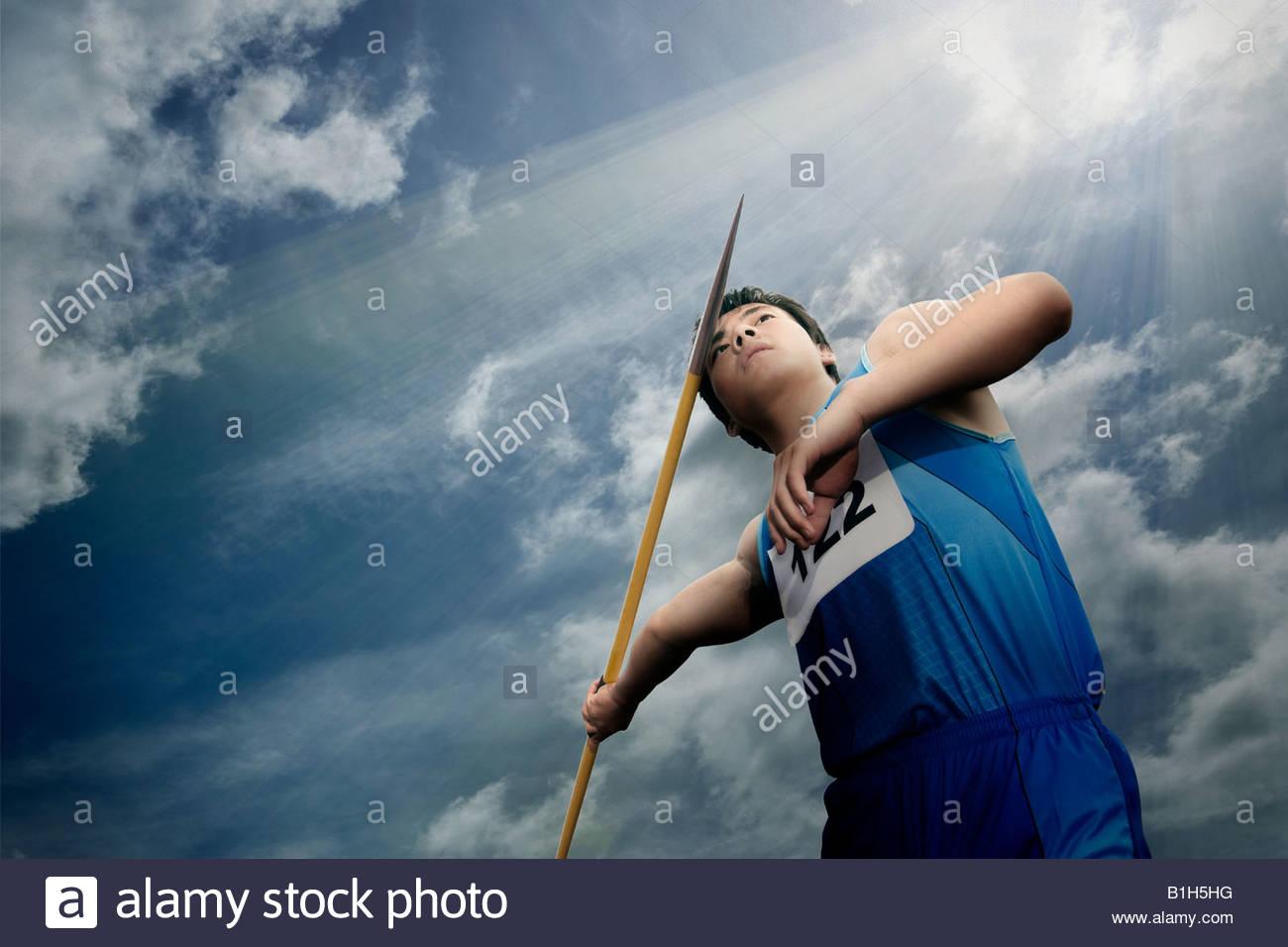 Javelin thrower - Stock Image