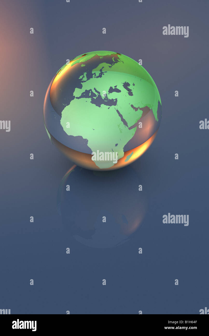 Computer generated globe - Stock Image