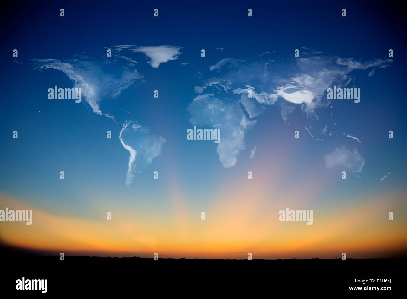 Smoke atlas in the sky - Stock Image