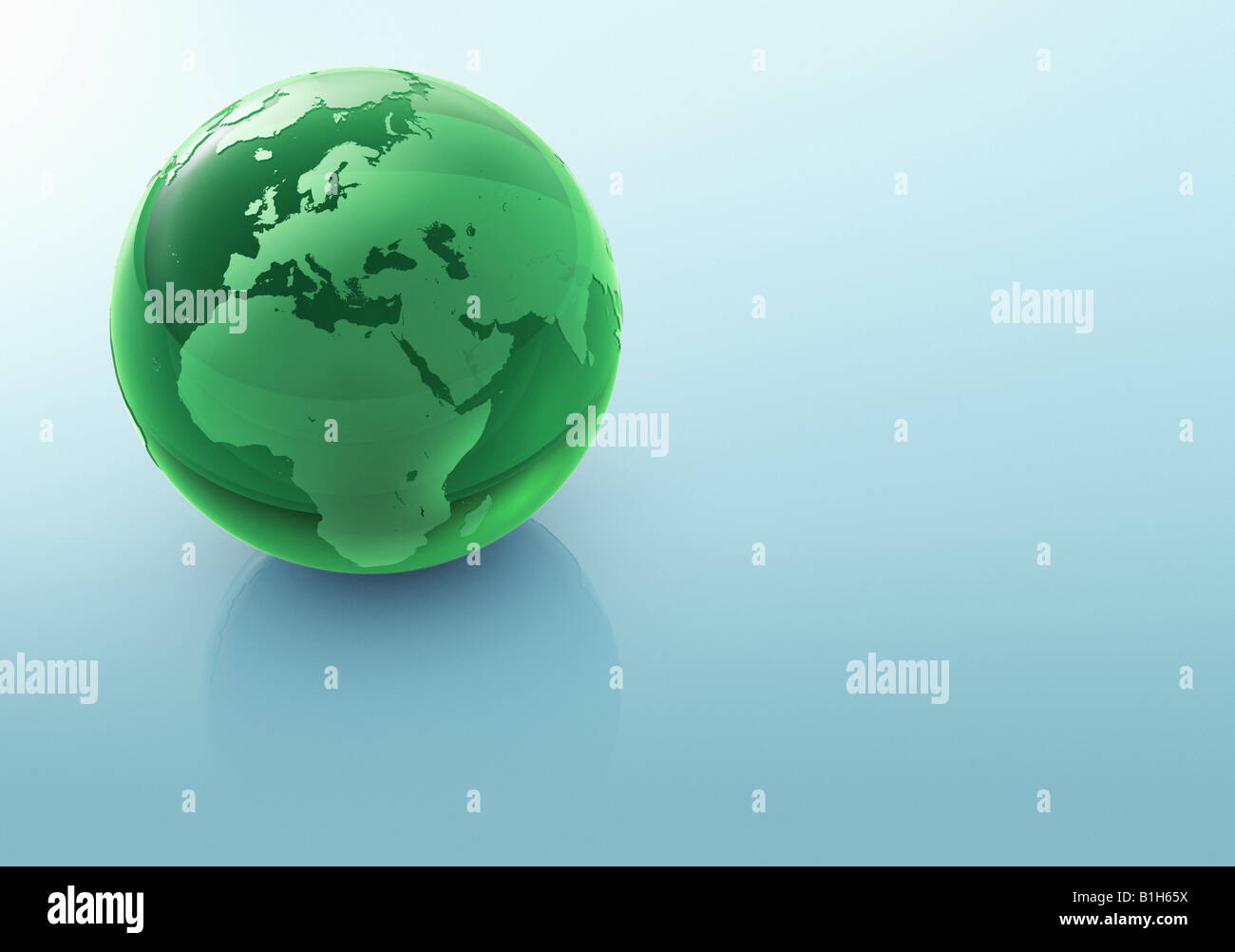 Computer generated globe - Stock Image