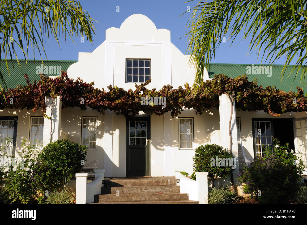 Typical Afrikaans House , Western Cape , South Africa - Stock Image