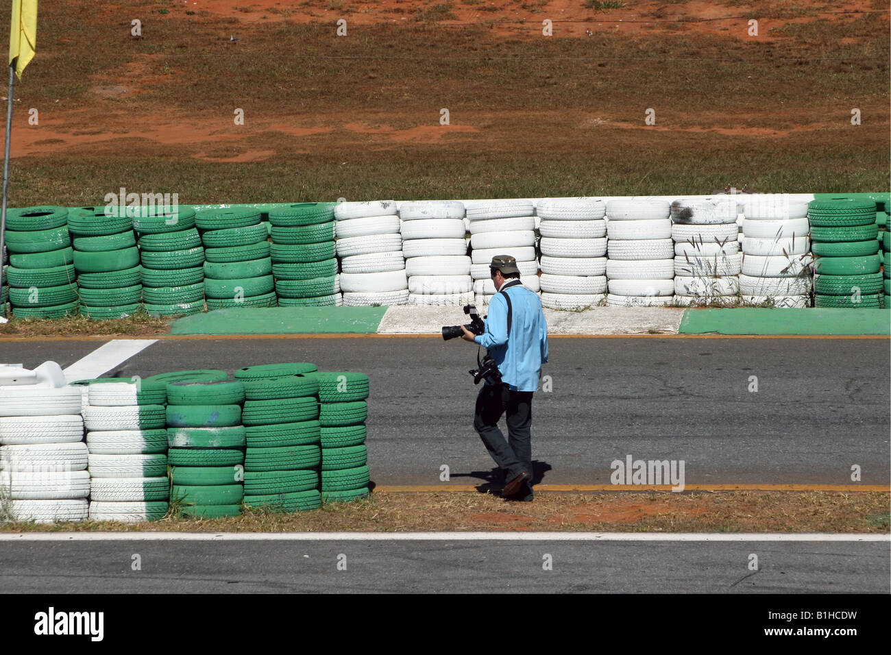 Press Photographer Working, Brasilia, Brazil, South America - Stock Image