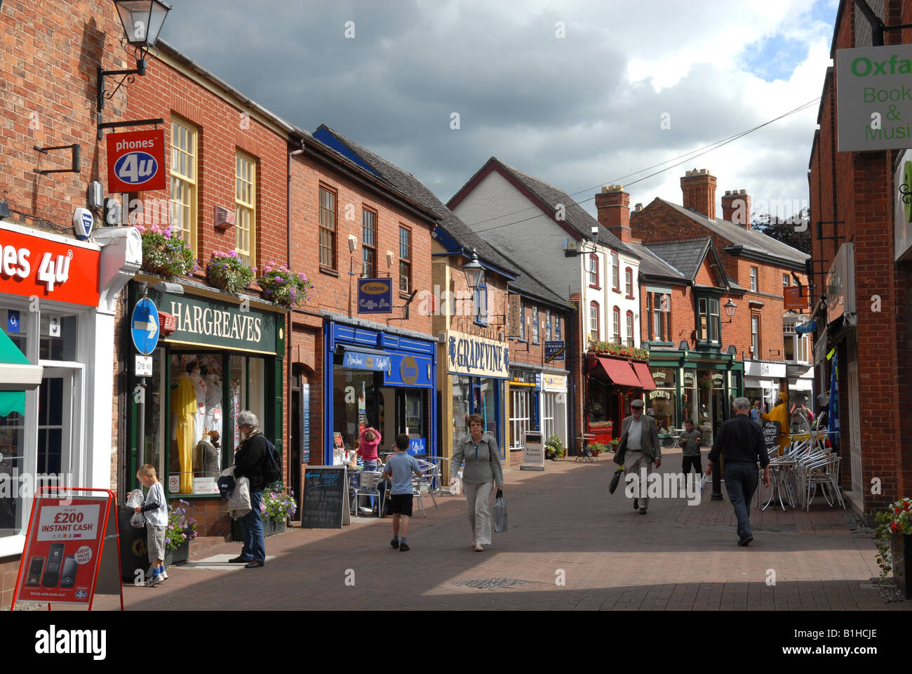 Pepper Street in Nantwich Cheshire England - Stock Image
