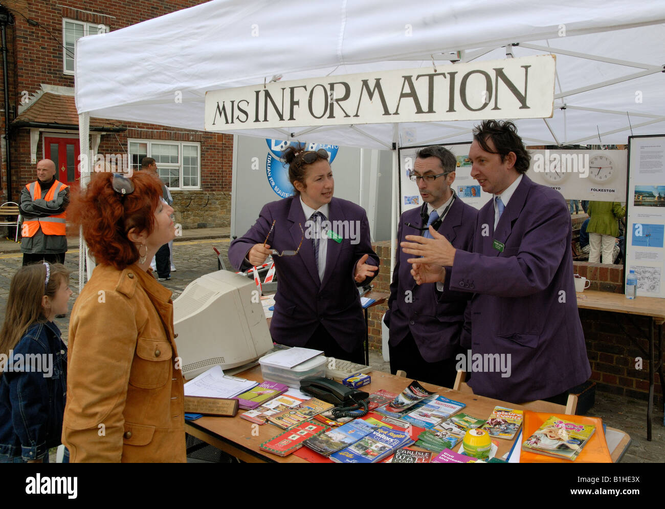 The Mis Information tent at the Folkestone Triennial arts festival - Stock Image