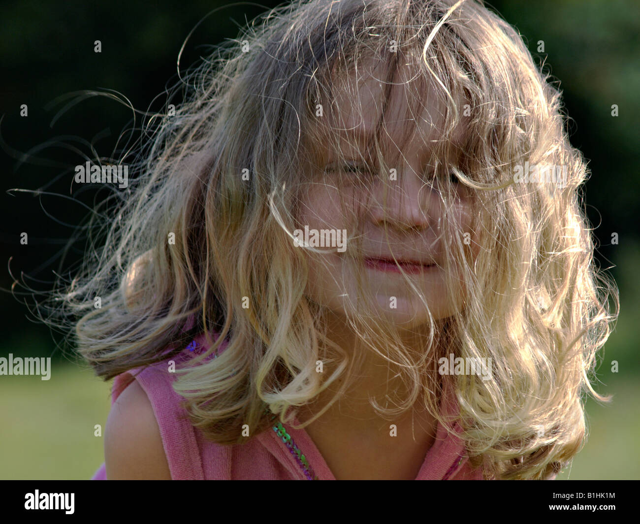 Young Female Child Bad Hair Day Stock Photo 18213152 Alamy