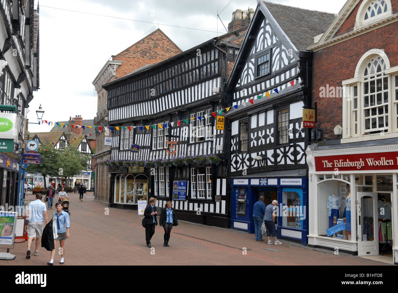 The Crown Hotel in High Street Nantwich Cheshire England - Stock Image