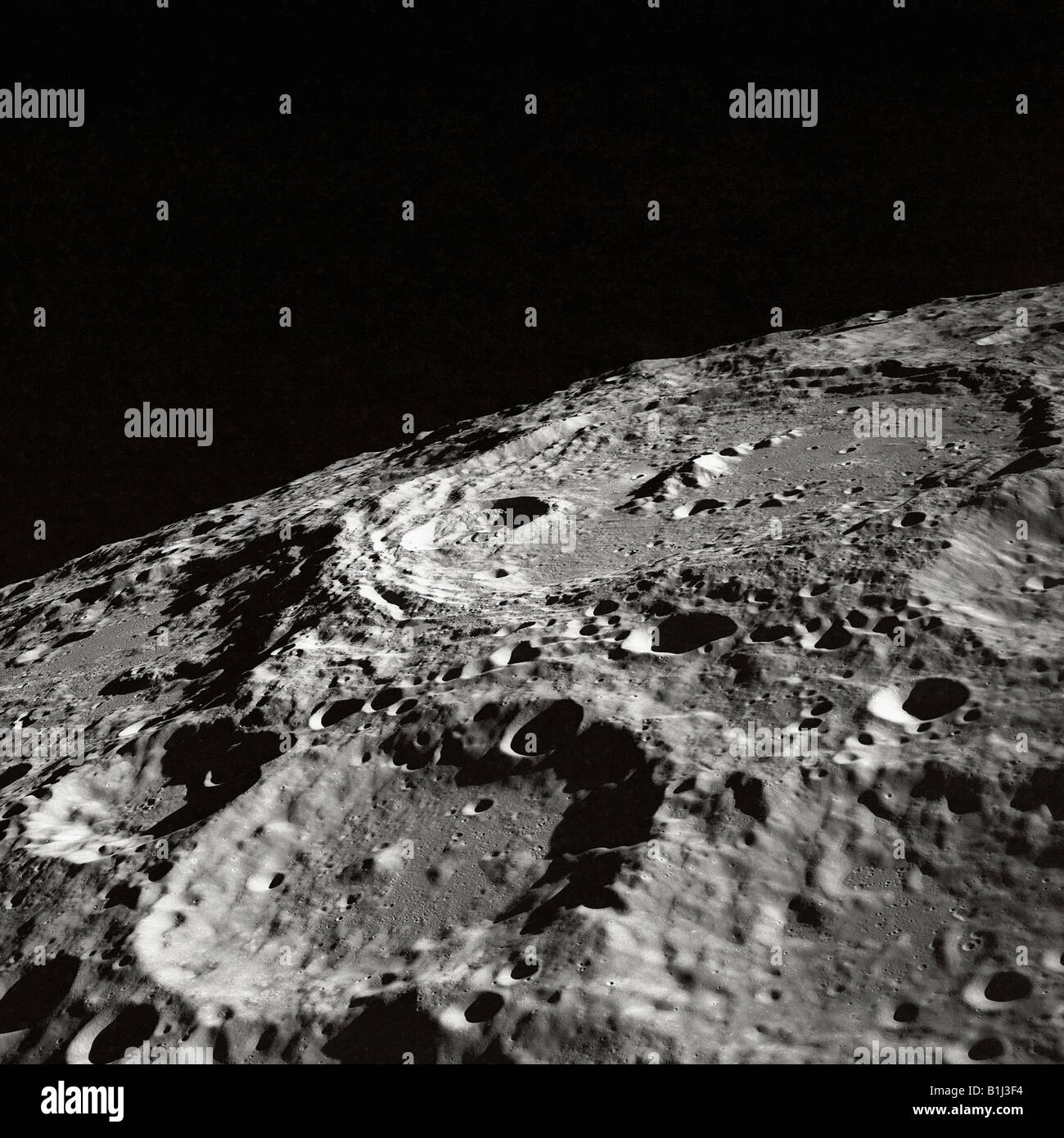 The Moon s surface - Stock Image