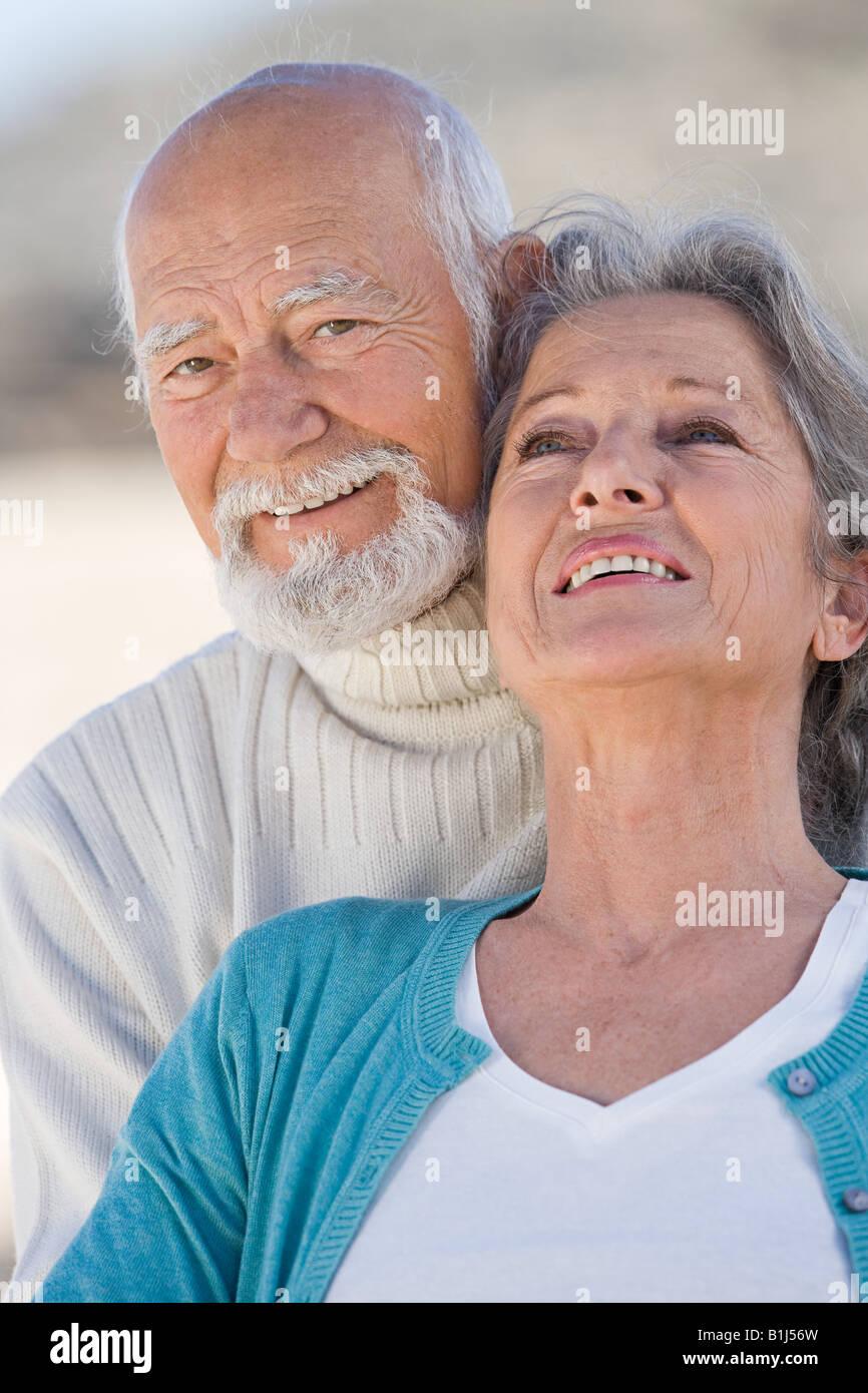 Smiling senior couple - Stock Image
