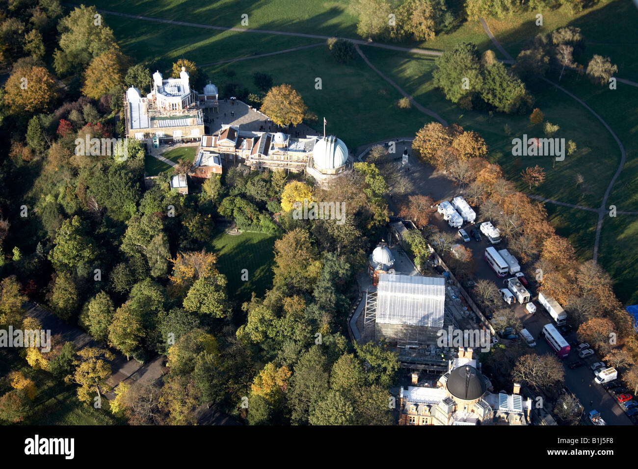 Aerial view north west of The Royal Observatory Greenwich Park London SE10 England UK - Stock Image