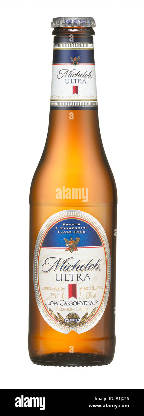 BOTTLE MICHELOB ULTRA LOW CARBOHYDRATE BEER - Stock Image