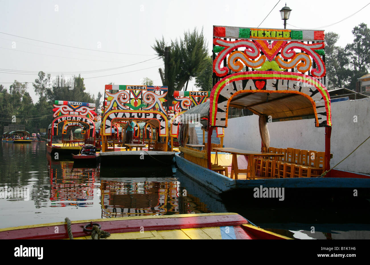 Mexico City Floating Gardens Boats Canals Mexican Stock Photos ...