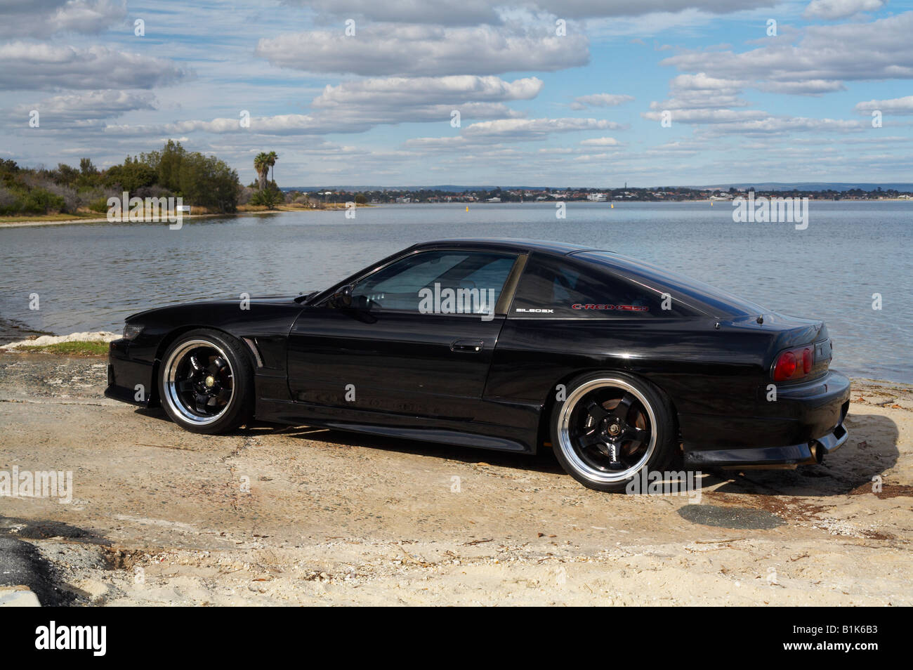Nissan S13 Japanese Sports Car Modified In The Australian Import Style,  Otherwise Known As Being