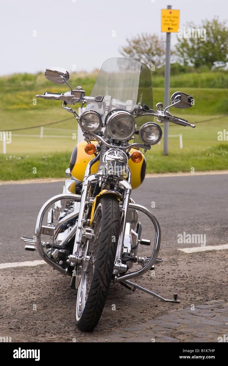 Harley Davidson motorbike - Stock Image