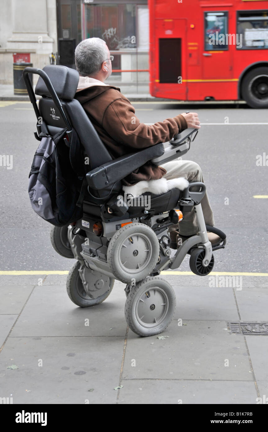 disabled person operating an ibot mobility system gyroscope assisted