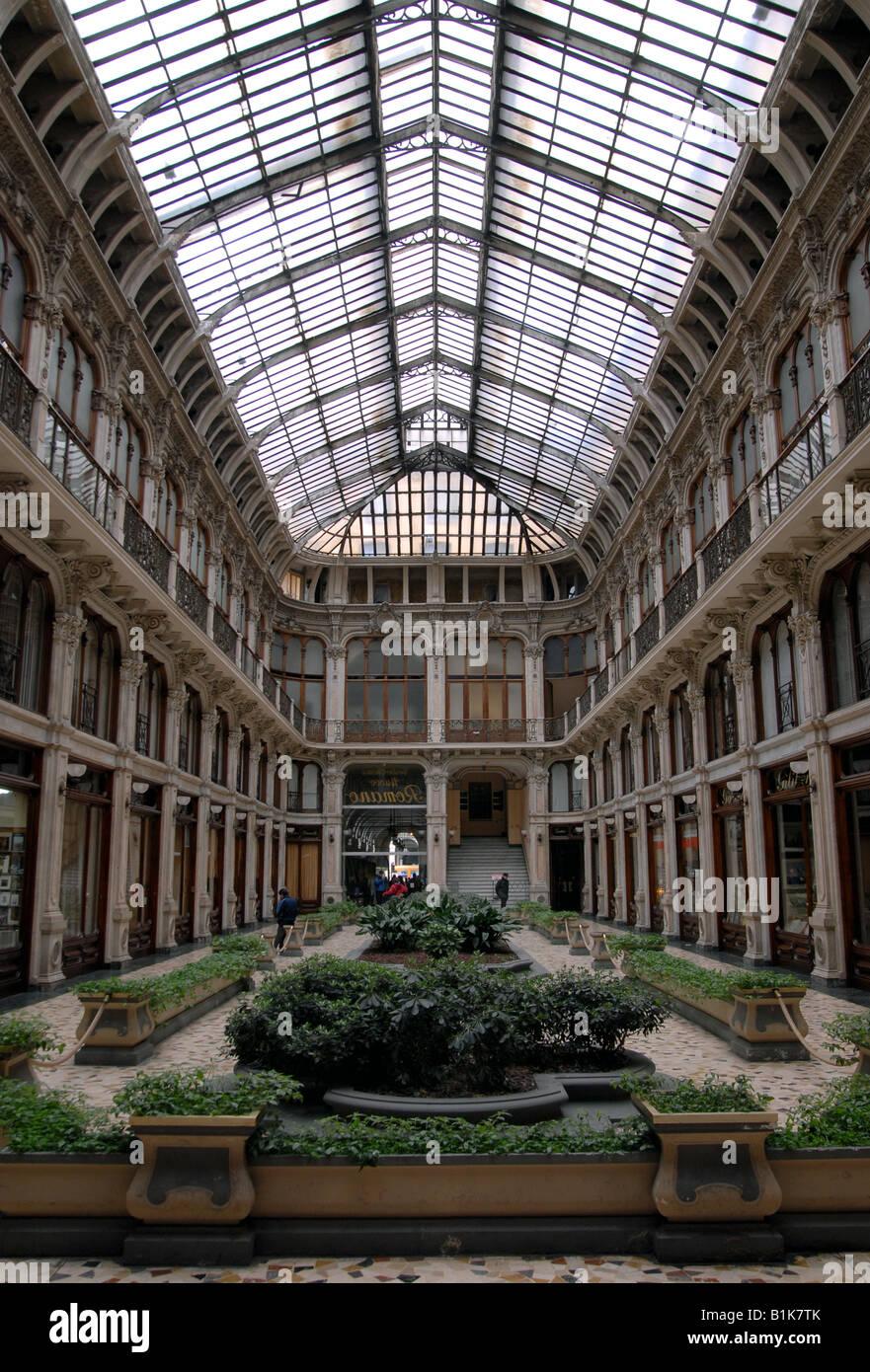 The Galleria Subalpina, Turin, Piedmont, Italy. - Stock Image